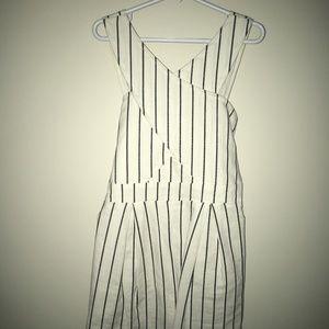 GB Girls Tie-Front Striped Wide Leg Jumpsuit